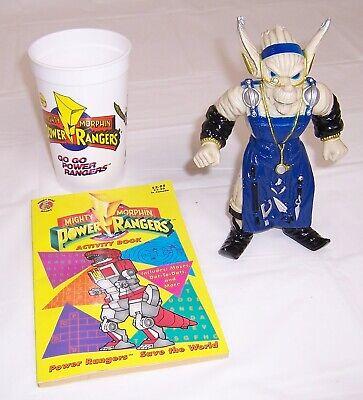 1994 Power Rangers Cup,1993 Finster Evil Space Alien Figure,DVD,Activity Book (Power Ranger Cups)