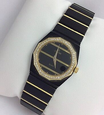 Concord Stainless Steel Wrist Watch - STAINLESS STEEL 14K GOLD DIAMOND CONCORD MARINER BLACK LADEIS WRIST WATCH