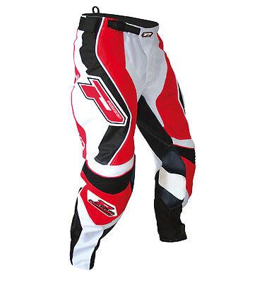"Progrip MX- Motocross-Enduro Jeans & Shirt Grey-Red-White 30"" Waist-Small Top"