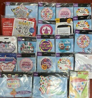Mega Lot of 250 Assorted Helium Foil Balloons Wholesale Job Lot clearance