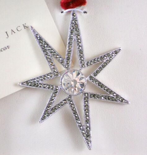 JUDITH JACK STAR Pendant Ornament 2006 NEW IB Marcasite Crystals Silver Rhodium
