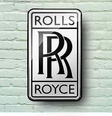 ROLLS ROYCE LOGO 2FT GARAGE SIGN WALL PLAQUE CLASSIC CAR WORKSHOP PHANTOM GHOST