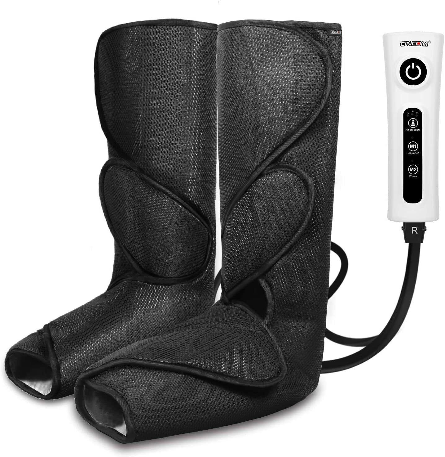 CINCOM Leg Massager for Foot Calf Air Compression Leg Wraps
