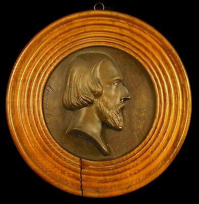 Médaillon Historien académicien Comte Alfred Pierre de Falloux du Coudray Angers