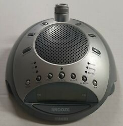 Homedics SS-4000 Alarm Clock AM/FM Radio Nature Sounds Projector only see pix