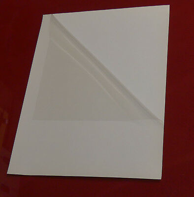 "8.5"" x 11"" CLEAR Window Glass Static Cling Sheet Vinyl Decal - 8 Mil or .20 mm"
