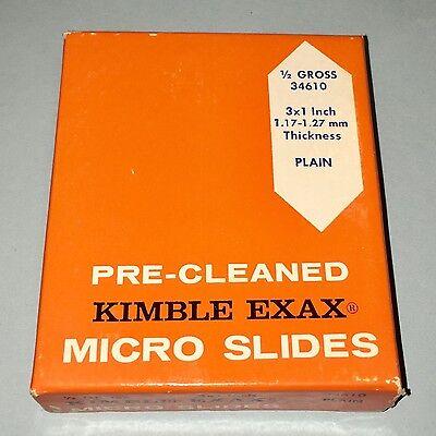New Old Stock Kimble Exax Glass Micro Slides 3 X 1 12 Gross 34610 Free Ship