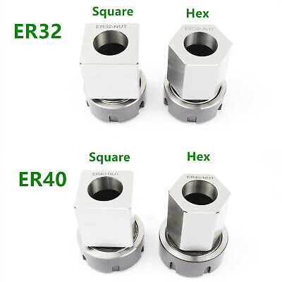 Er-32 Er-40 Square Hex Collet Block Chuck Holder For Cnc Lathe Engraving Machine