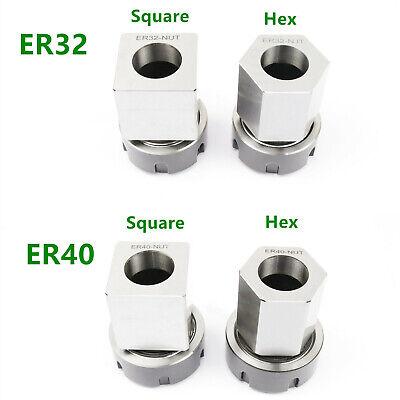 Er-32 Er-40 Square Hex Collet Block Chuck Holder For Cnc Lathe Engraving Machine