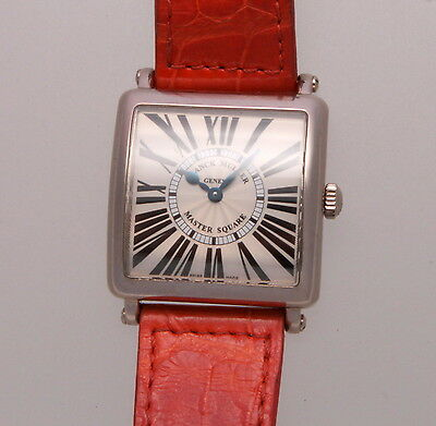 Authentic Franck Muller Master Square 18K White Gold Watch 6002 L Q2