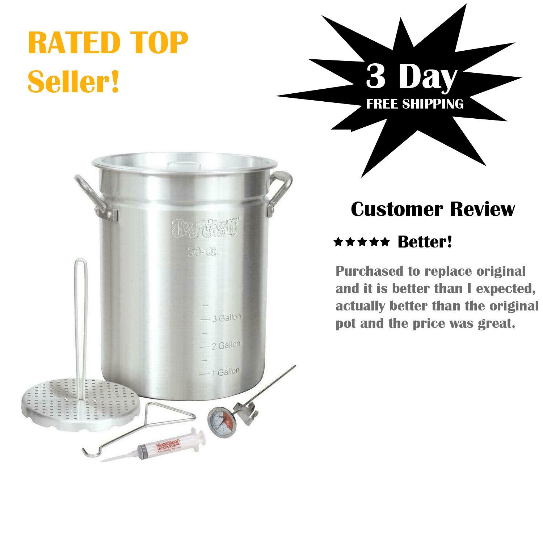Bayou Classic Turkey Fryer Kit 30 Qt Stock Pot Poultry Rack