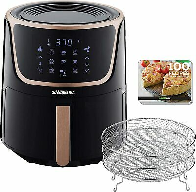 GoWISE USA 7-Quart Extra Large Electric Air Fryer |with Dehydrator | 8 Functions