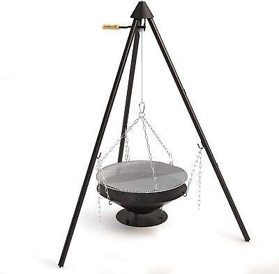 Schwenkgrill Ø 60 cm mit Dreibein Gestell mit Feuerschale Holzkohlegrill Grill