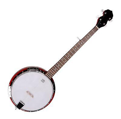 5-STRING TRADITIONAL BLUEGRASS WESTERN BANJO GUITAR REMO HEAD MAHOGANY WOOD
