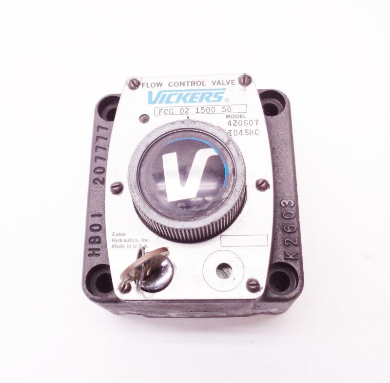 NEW VICKERS FCG 02 1500 50 FLOW CONTROL VALVE FCG02150050