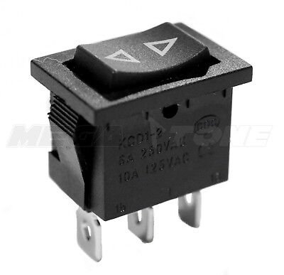 Spdt Kcd1 Mini Rocker Switch Momentary On-off-on 6a250vac Usa Seller
