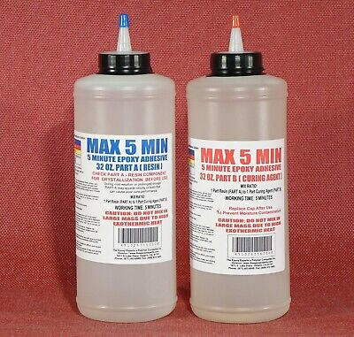 Epoxy Resin 5 Minute Cure Glue - Fast Strong Tough Low Cost Bulk 12 Gal Kit