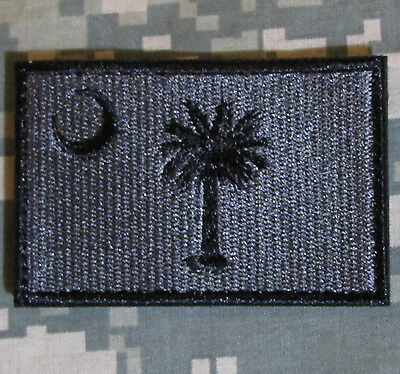 SOUTH CAROLINA STATE FLAG MORALE ACU DARK VELCRO® BRAND FASTENER BADGE PATCH