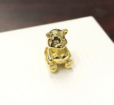 Pandora 18K Gold Plated, Theodore Bear Charm #767236 +Gift Pouch+Packaging