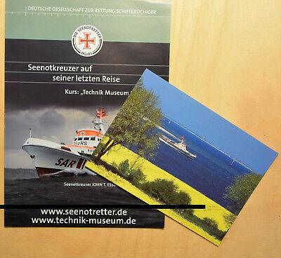 DGzRS - Die Seenotretter - SK JOHN T. ESSBERGER - Faltblatt und Postkarte