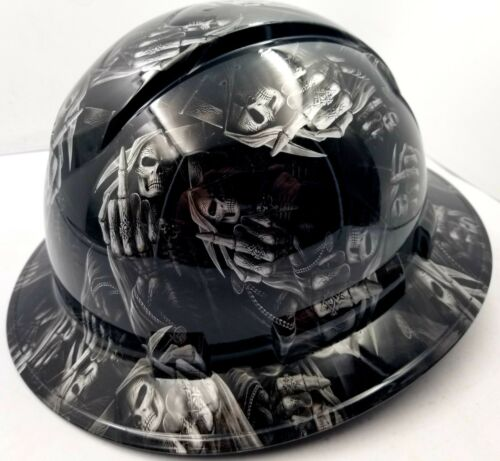 Hard Hat custom hydro dipped , OSHA approved FULL BRIM ,FTW GRIM REAPER UP YOURS 2