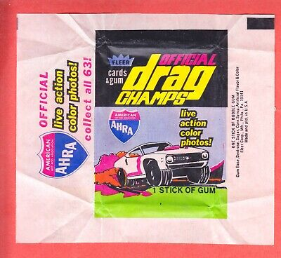 1972  FLEER  OFFICIAL DRAG CHAMPS  3  DIFFERENT  WAX WRAPPERS  NM/MT