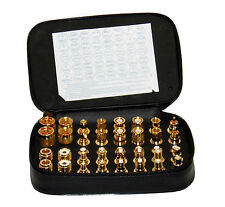 Very High Quality 40 Piece RF Connector Unidapt Adapter Kit - Gold Finish