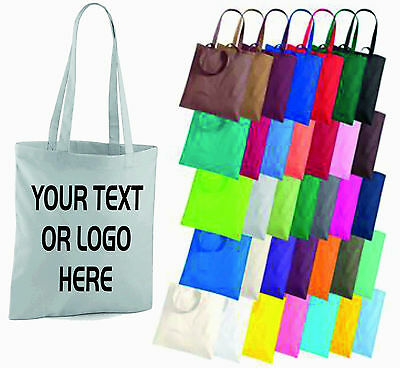 Custom Tote (Personalised Tote Shopping Bag Shopper Custom Text Logo Printed Grocery)