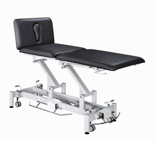 Electric 3 Section Hi-Lo Medical Exam Treatment Table - BLACK VINYL