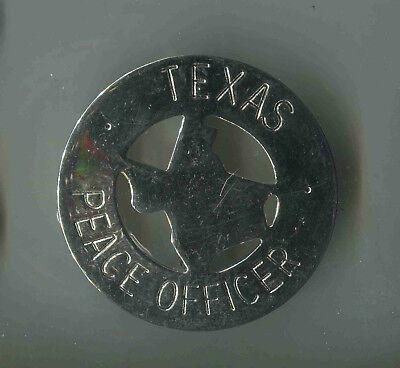 Officer Brust (USA:Polizei-Brustabzeichen Alte Art: Texas Peace Officer)