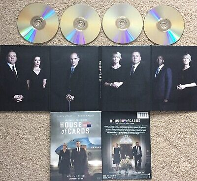 House of Cards: Season Three 3 (4-Disk Boxed Set; 2015) VERY GOOD