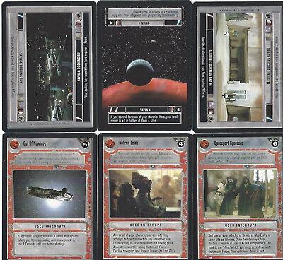 6 cards Star WARS Customizable Card Game CCG - genau die auf dem Scan 3