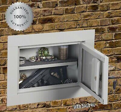 Home Mount In Wall Safe Pistol Security Cash Steel Box Handgun Hidden Storage
