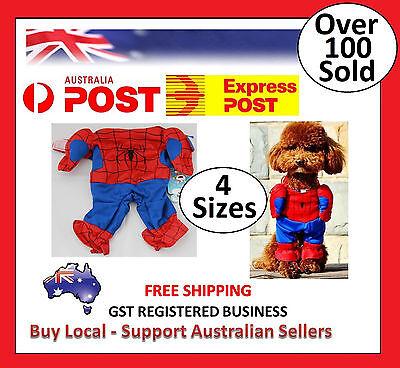 Puppy Superhero (Spiderman Superhero Cute Pet Cat Dog Puppy Cotton Clothes Costumes)