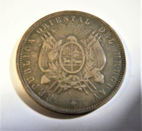Uruguay 1893 silver 50 centesimos SB1