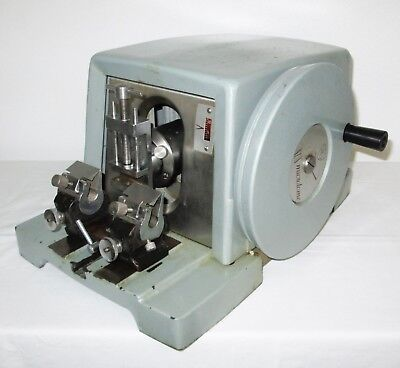 American Optical A.o. 820 Microtome W Blade Holder Specimen Clamp - Works Well