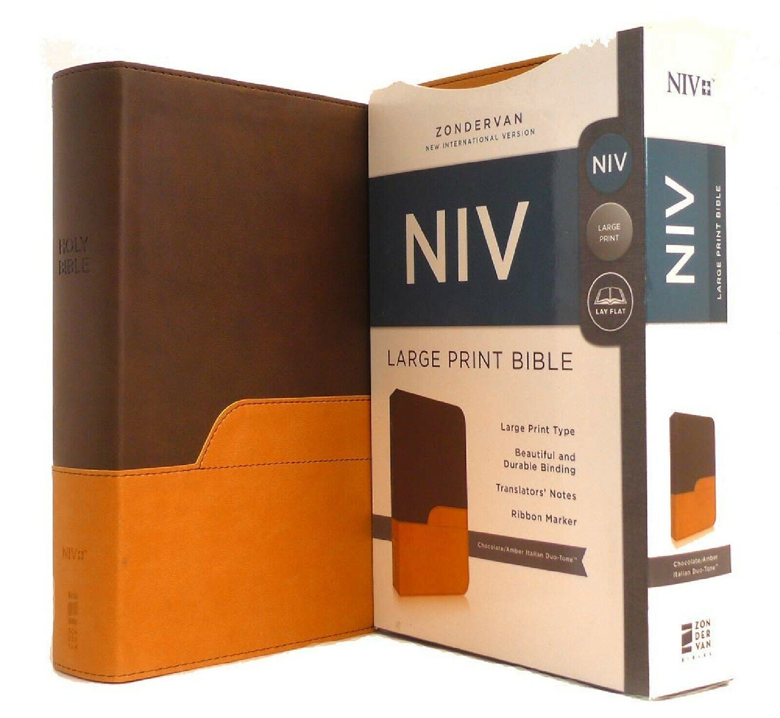 NIV Bible Large Print DuoTone - free shipping in shrink wrap BRAND NEW!!!
