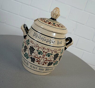 Westerwald 3 L Bowletopf mit Deckel und Löffelaussparung Salzlasur Vintage RAR ()