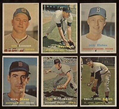 1957 Topps #382 Brideweser in ExMt Condition