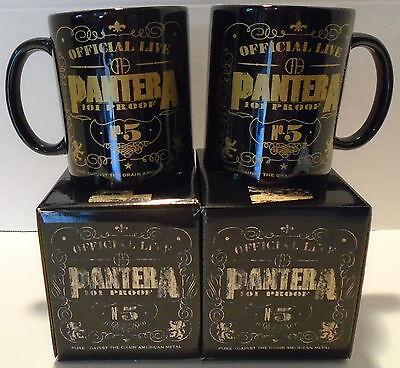 "PANTERA ""101 PROOF"" Coffee mug 12 oz ceramic NEW IN BOX"