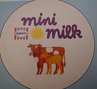 Aufkleber MINI MILK Langnese Eis 80er Sticker Autocollant