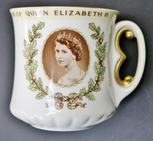 Queen Elizabeth II 1953 Coronation Bone China Cup Royal Doulton Made In England