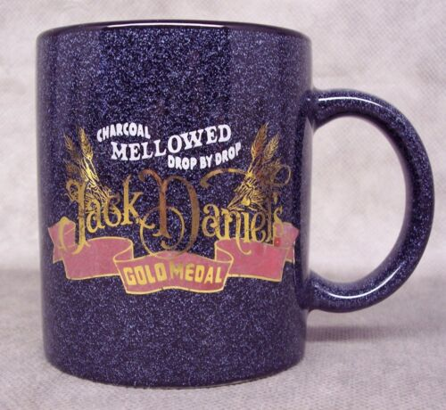 Jack Daniels Tenessee Whiskey Gold Metal Coffee Mug Cup - Excellent condition