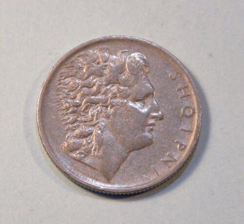 1926 Albania 1 Lek World Coin Alexander the Great portrait Reverse on Horse