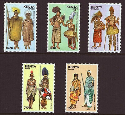 KENYA - 1989 - CEREMONIAL COSTUMES ( 4th Series)- MINT NEVER HINGED - SEE SCANS