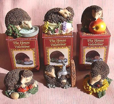 A Set of 6 MINIATURE HEDGEHOGS fron The Harvest Hamlet Collection New & Boxed