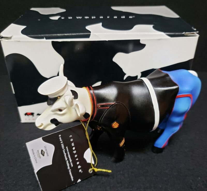 COW PARADE THE FEW, THE PROUD, THE MOORINES  # 7295 with Box Free Shipping