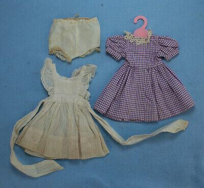 1950s Handmade Dress, Pinafore, & Panties for 14