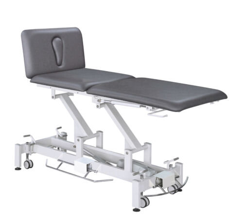 Electric 3 Section Hi-Lo Medical Exam Treatment Table - GRAY VINYL