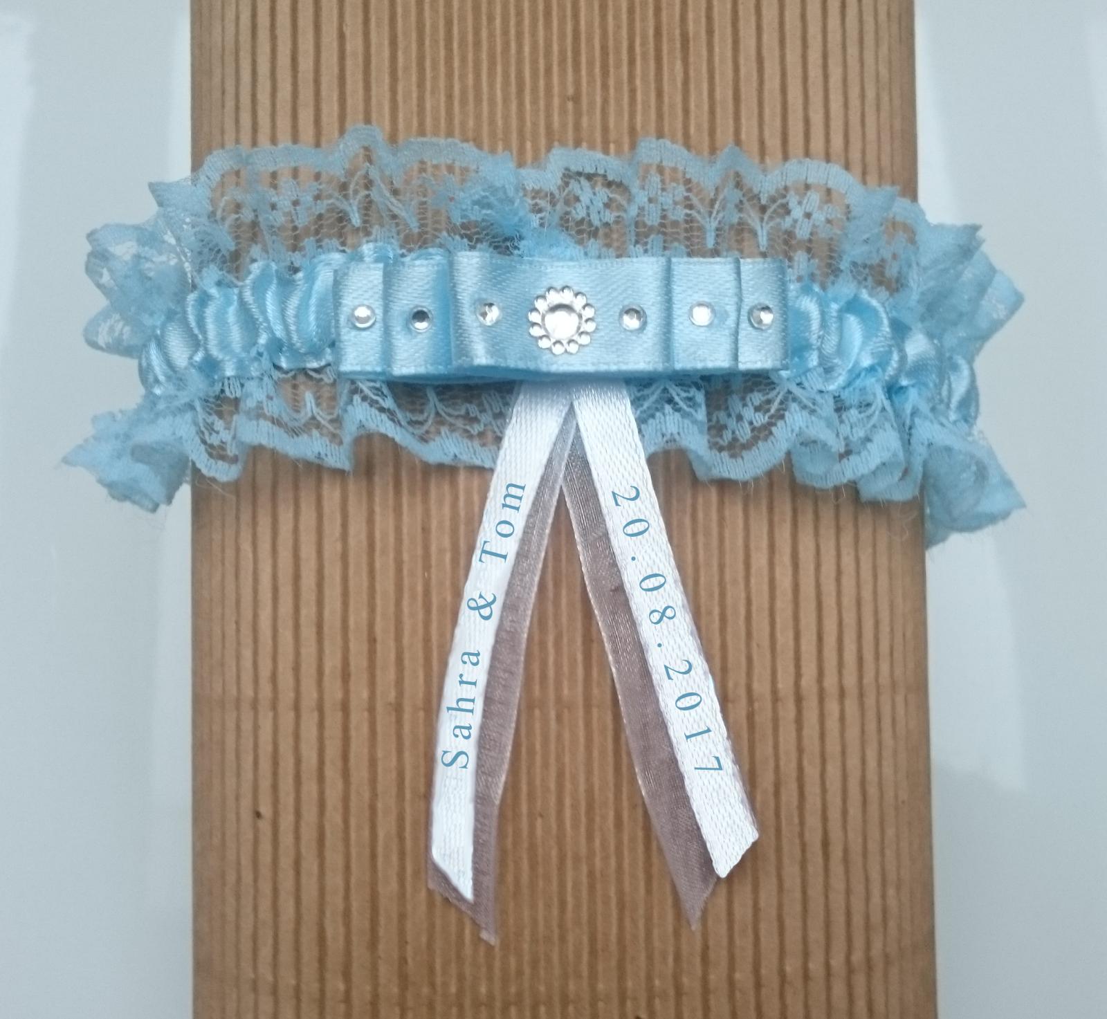 Strumpfband Strumpfhalter Hochzeit blau